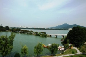 Xuanwu Lake from the wall