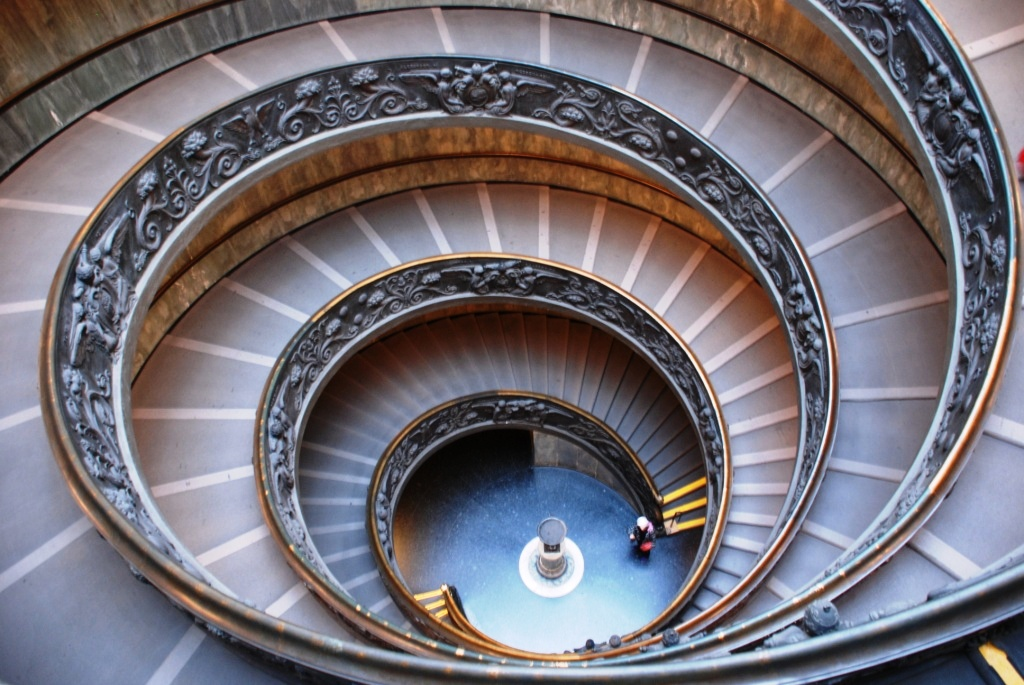 Staircase inside the Vatican museum