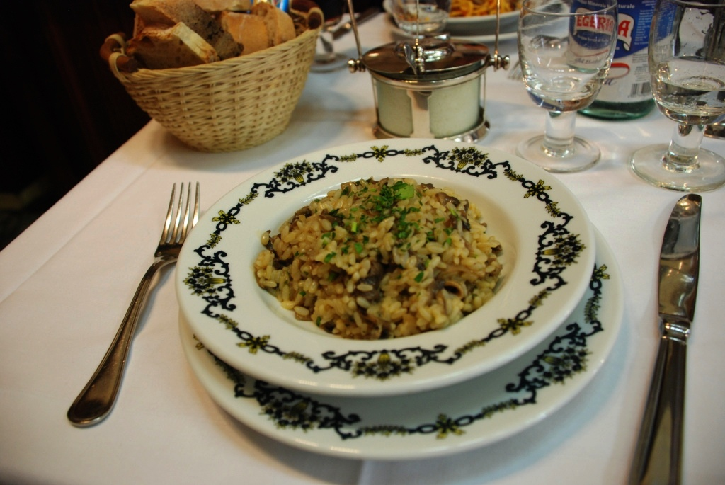 Mushroom risotto, one of my