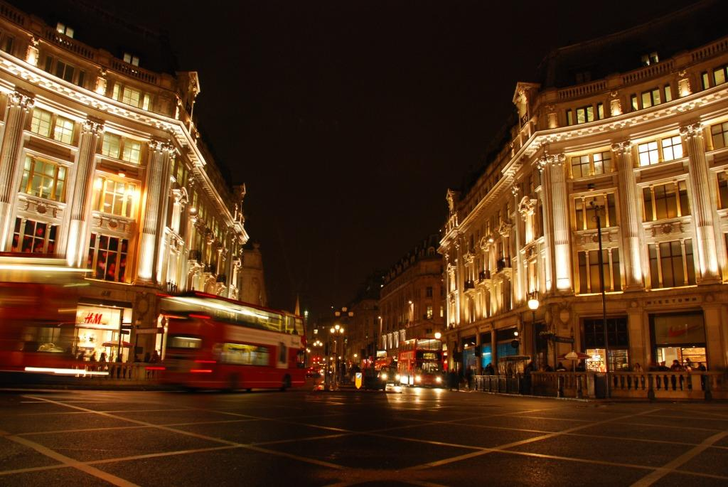 Regent Street, London -- shopping street