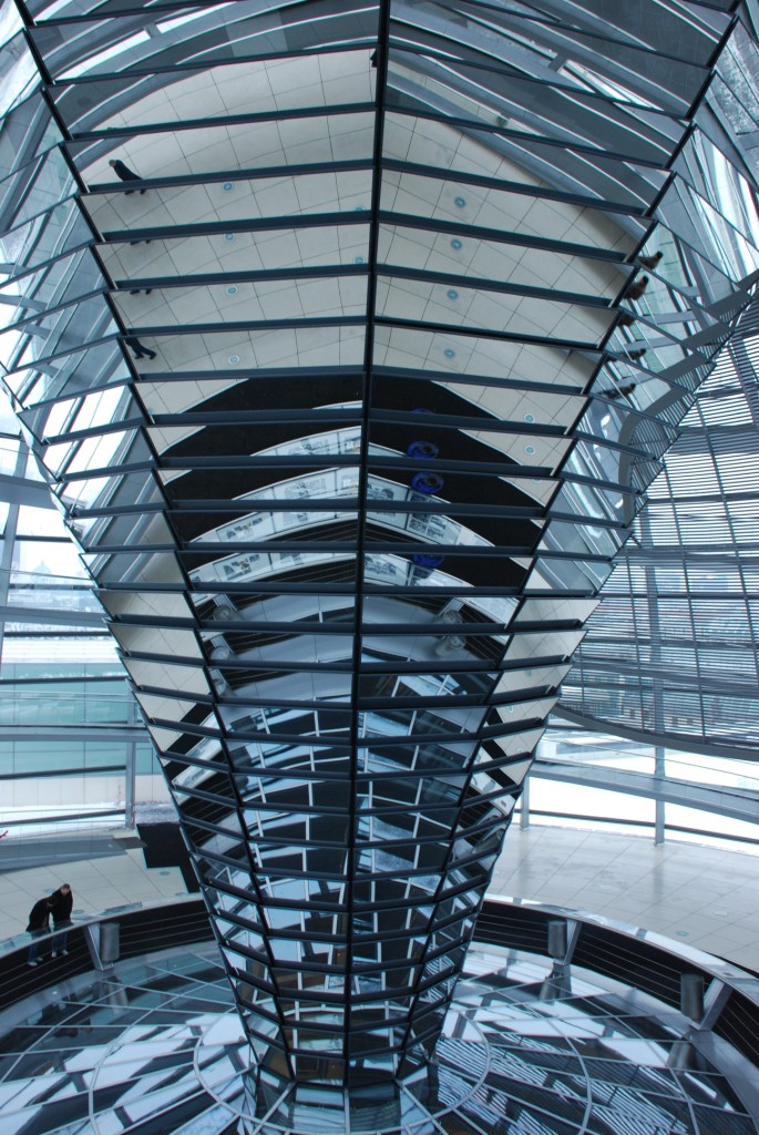Inside the dome of the Reichstag - the German parliament building