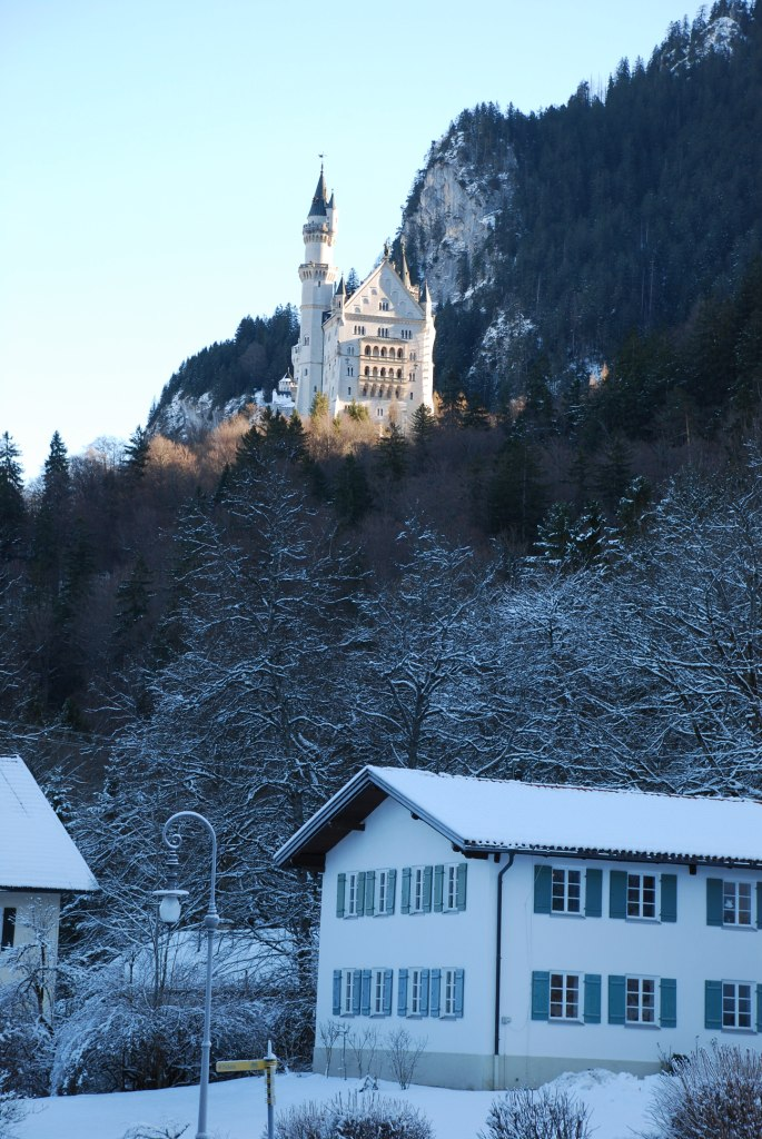 First sight of the castle, from Hohenschwangau village
