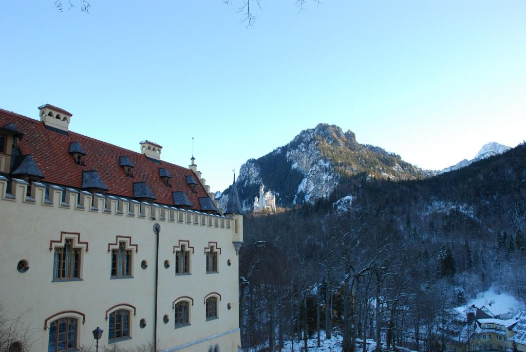 From Hohenschwangau castle looking towards Neuschwanstein