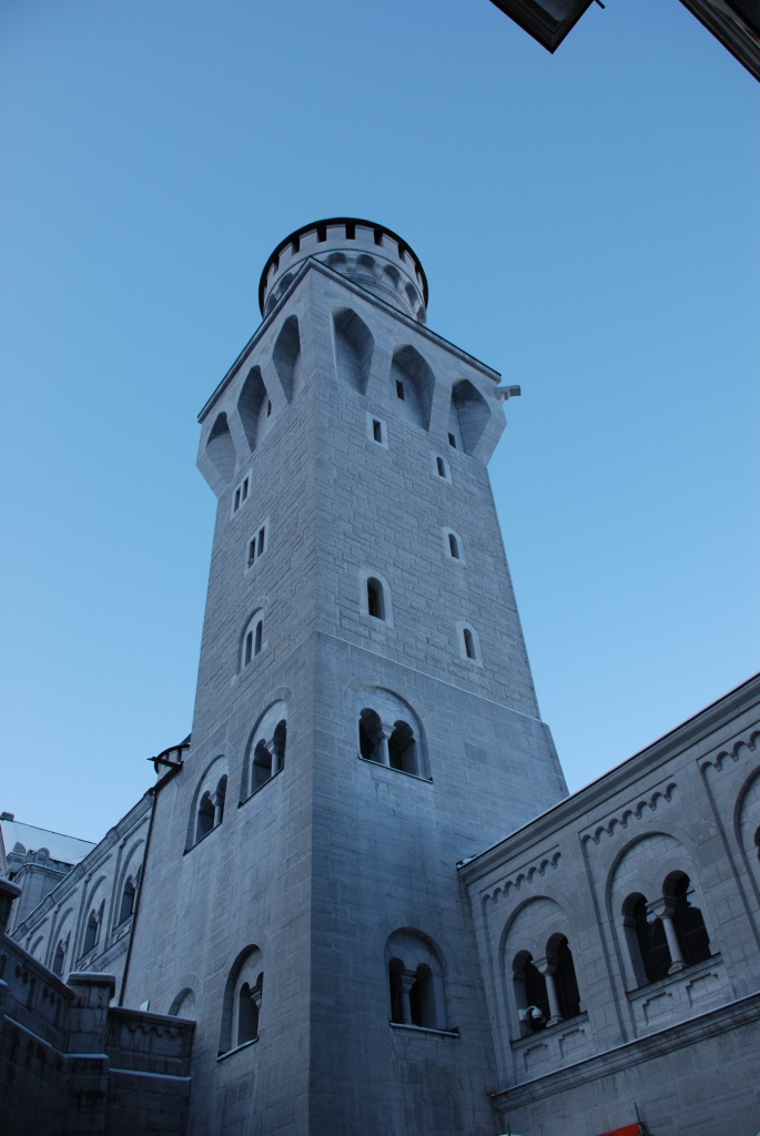 The front tower viewed from the first courtyard