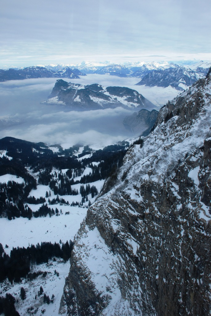From Mount Pilatus - view of the Alps